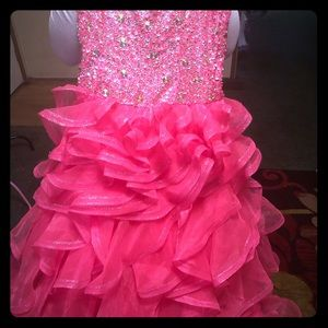 Hot pink Tiffany Ball Gown